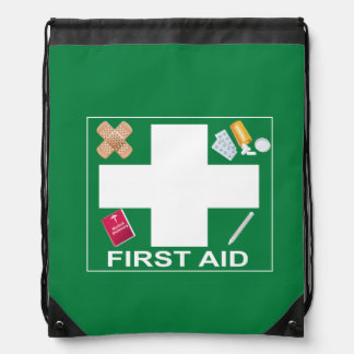 First Aid Drawstring Backpack