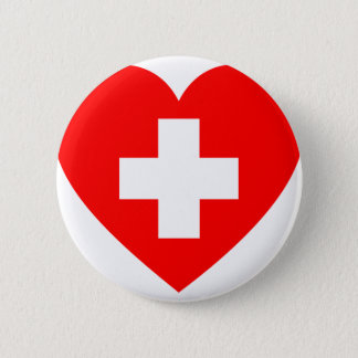 First Aid Heart Pinback Button
