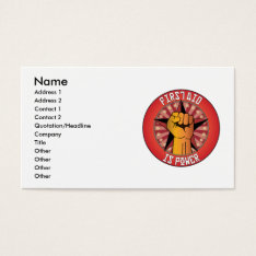 First Aid Is Power Business Card at Zazzle