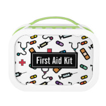 First Aid Kit Medicine Emergency Pattern Lunch Box