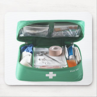 First aid kit. mouse pad