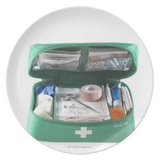 First aid kit. plate