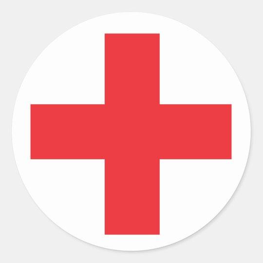 Preferred First Aid Kit Sign Classic Round Sticker   Zazzle.com KM59