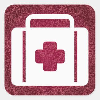 First Aid Kits Minimal Square Sticker