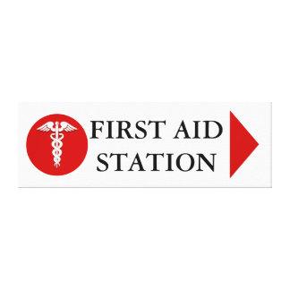 First aid medical emergency canvas print