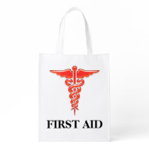 First aid medical professionals | Personalize Reusable Grocery Bag