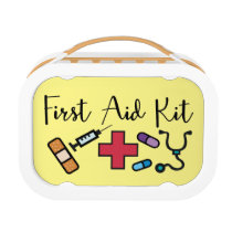 First Aid Medicine Kit Emergency Supplies Lunch Box