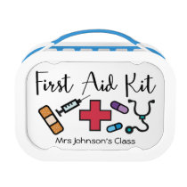 First Aid Medicine Kit Personalized Teacher Lunch Box