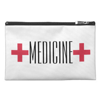 First Aid Medicine Kit Red and White Symbol Travel Accessories Bags
