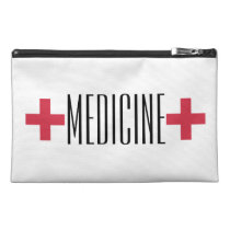 First Aid Medicine Kit Red and White Symbol Travel Accessory Bag