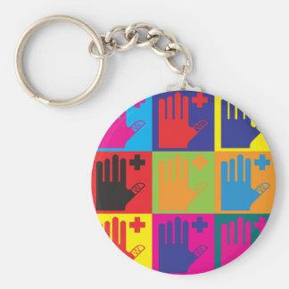 First Aid Pop Art Basic Round Button Keychain