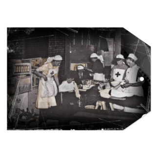 First Aid Station Nurses WWI 5x7 Paper Invitation Card