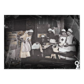 First Aid Station Nurses WWI Card