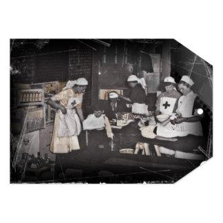 First Aid Station Nurses WWI Card