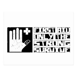 First Aid Survive Postcard