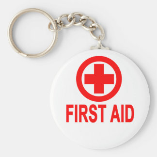 First aid Women's T-Shirts.png Basic Round Button Keychain