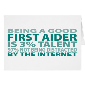 First Aider 3% Talent Card