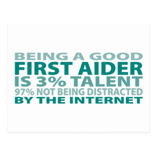 First Aider 3% Talent Postcard