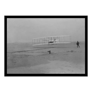 First Airplane Flight, Kitty Hawk 1903 Poster