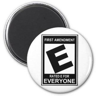 First amendment 2 inch round magnet
