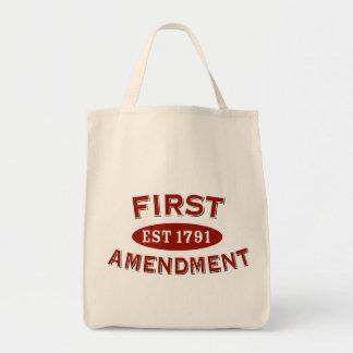First Amendment Canvas Bags