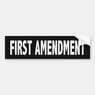 First Amendment Bumper Sticker