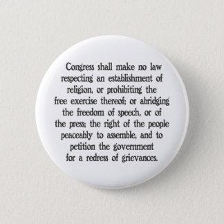 First Amendment Button
