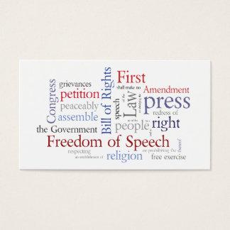 First Amendment Card for Journalist, Lawyer