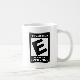 First amendment classic white coffee mug