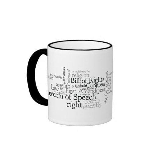 First Amendment Free Speech: Journalist, Lawyer's Ringer Coffee Mug