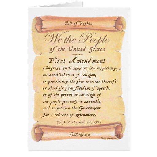 First Amendment Greeting Card