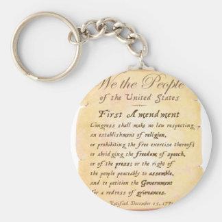 First Amendment Keychain