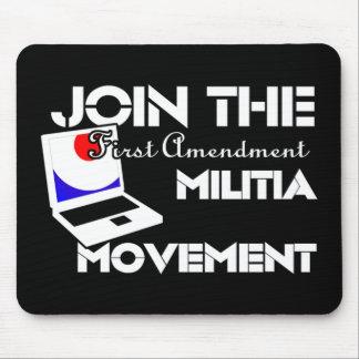 First Amendment Militia Mouse Pad
