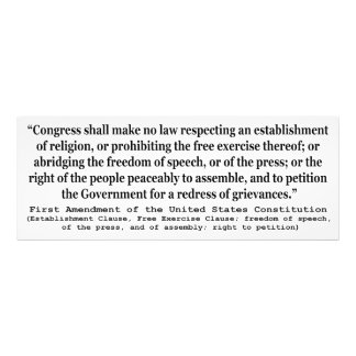 First Amendment of the United States Constitution Photo Print