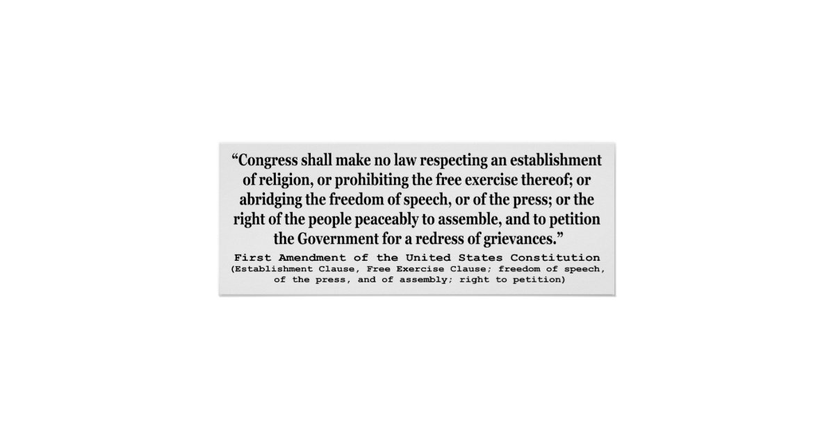 """an analysis of the first amendment in the constitution of the united states Our current first amendment was article  real first amendment to the united states constitution,"""" he details in words and pictures  news and political commentary and analysis."""