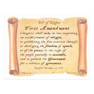 First Amendment Postcard