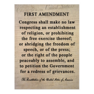 first admnment The first amendment 86k likes congress shall make no law respecting the establishment of religion, or prohibiting the free exercise thereof or.