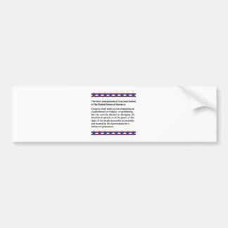 First Amendment Rights Bumper Sticker