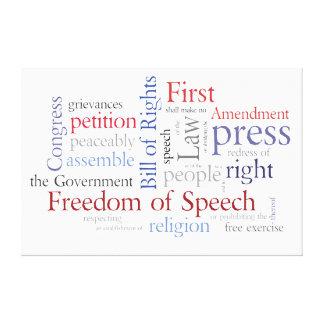 First Amendment Rights - Freedom of Speech Canvas Print