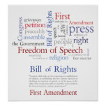 First Amendment Rights - Freedom of Speech Poster