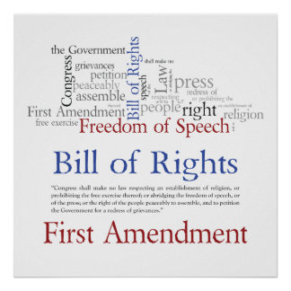 First Amendment Rights - Freedom of Speech Posters