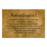 First Amendment to the U.S. Constitution Poster
