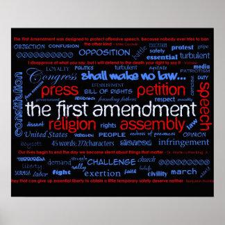 First Amendment 'Wordle' Poster