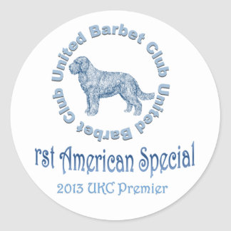 First American Barbet Specialty Classic Round Sticker