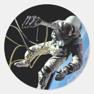First American Spacewalker Classic Round Sticker