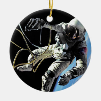 First American Spacewalker Double-Sided Ceramic Round Christmas Ornament