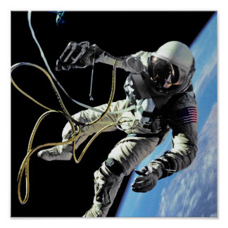 First American Spacewalker Poster