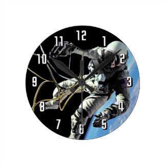 First American Spacewalker Round Clock