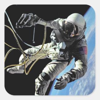 First American Spacewalker Square Sticker