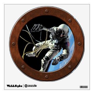 First American Spacewalker Steampunk Window Wall Sticker